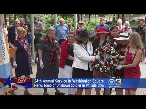Remembrance Service Held At Tomb Of The Unknown Soldier In Washington Square