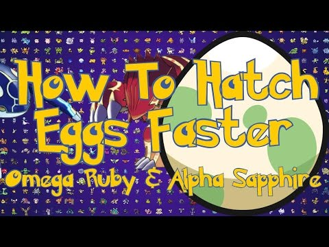 Pokemon Omega Ruby and Alpha Sapphire Tips : How To Hatch Eggs Faster