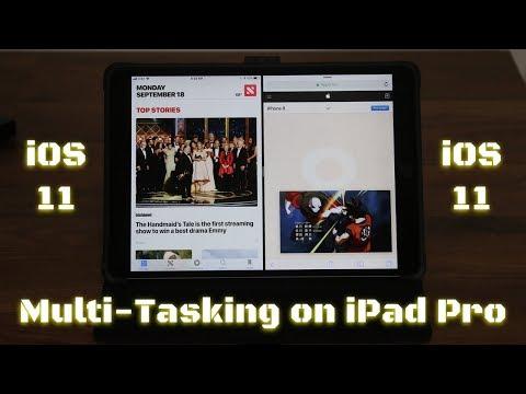 Split-Screen Multitasking on iOS 11 running on iPad Pro - Superb!