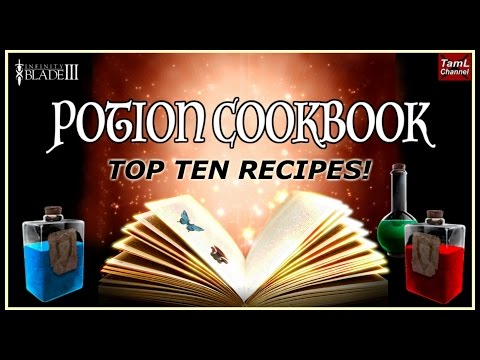 Infinity Blade 3: POTION COOKBOOK - TOP TEN RECIPES!