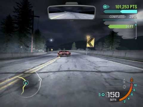 NFS Carbon - Wolf crashes in canyon race