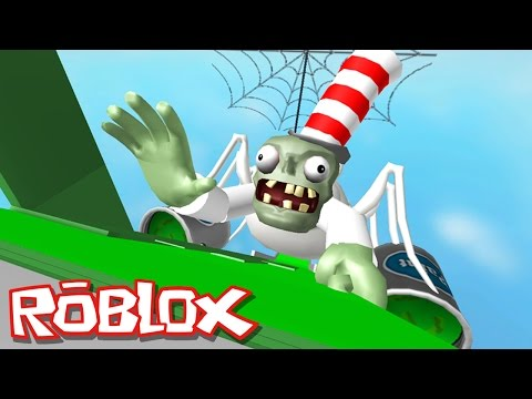 Roblox Adventures / Mr. Zombie's Slime Slide / Giant Evil Zombie!!