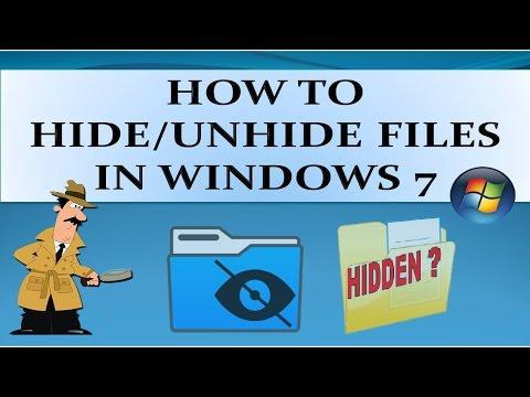 How to Hide/Unhide  Files in Windows 7, XP, Vistas & 8?