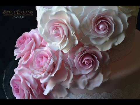 How I Make Rose Out Of Fondant with circle cutters and spoon.