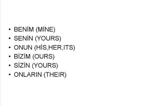 basic words in turkish