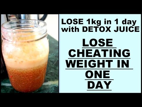 Detox Juice Recipe To Lose Weight 1KG in 1 Day | Weight Loss Green Juice for Cheat Meal | Fat to Fab