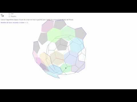 Dynamic truncated icosahedron net  (1/6 Tutorial)