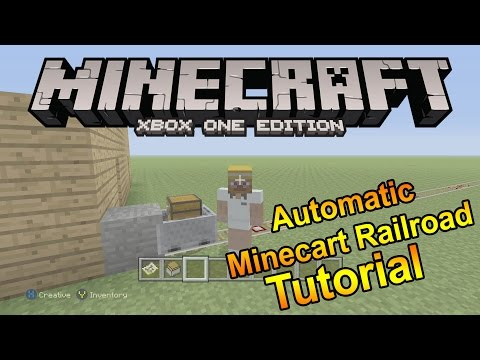How To Build An Automatic Minecart Railroad (Minecraft Xbox One Edition Tutorial)