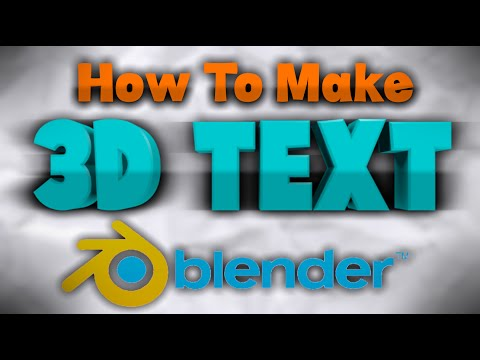 [TUTORIAL] How To Make AMAZING 3D Text or Logo FREE! - Blender 2.7.1