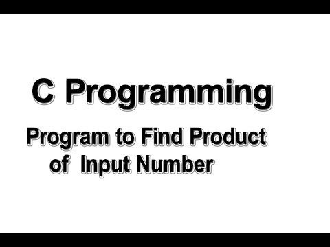 Program to find product of input numbers