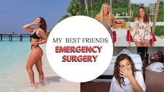 FROM PARADISE TO PANIC   My best friends surgery in The Maldives