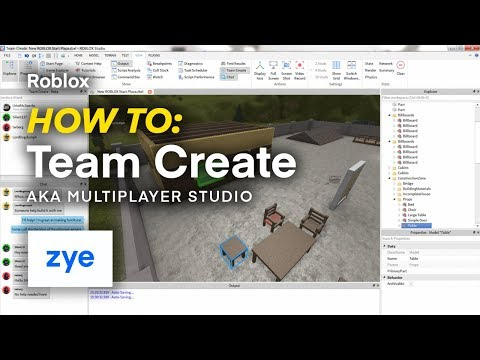 Roblox | How To: Team Create (Multiplayer Studio)