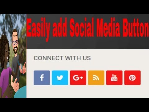 Easily  Add Social Media Button On Your Website and Blog
