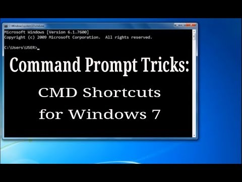 Command Prompt shortcuts  for Windows 7