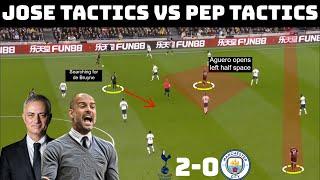 Tactical Analysis: Tottenham Hotspur 2-0 Manchester City | Mourinho Tactics vs Guardiola Tactics