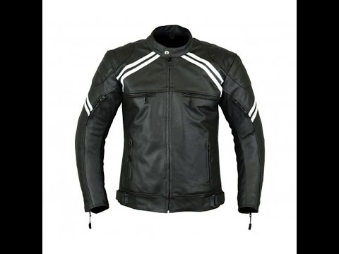 New Motorcycle Biker Armour Men's Leather Jacket