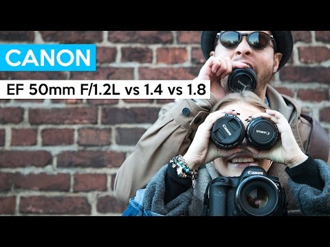 Canon EF 50mm F/1.2L vs 1.4 vs 1.8 STM | BOKEH battle with great portrait lenses | english review