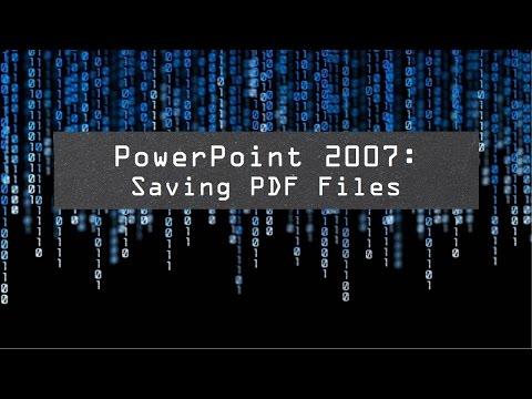PowerPoint 2007: Saving PDF Files (720)