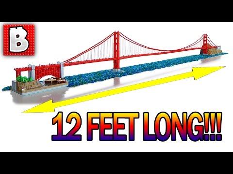 Giant LEGO Golden Gate Bridge!!! 12 Feet Long!!!   TOP 10 LEGO MOCs
