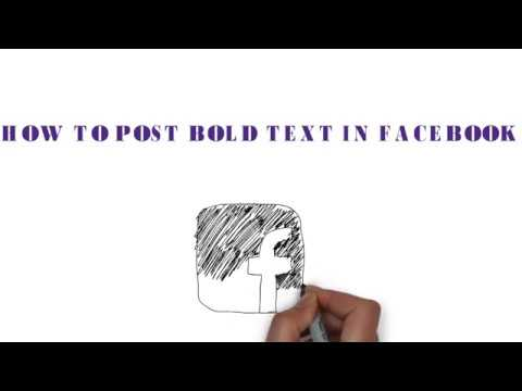 BOLD TEXT ON FACEBOOK How to use Bold, Italic, Underline Text on Facebook Posts 2017