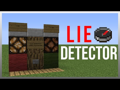 Minecraft 1.12: Redstone Tutorial - Lie Detector! (100% Accurate)