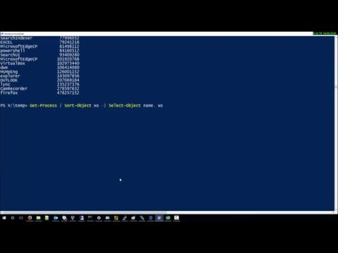 How to sort all Processes by Memory usage with Powershell