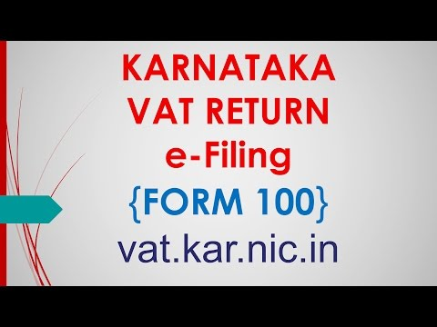 VAT Return Filing online | Form 100 - vat.kar.nic.in