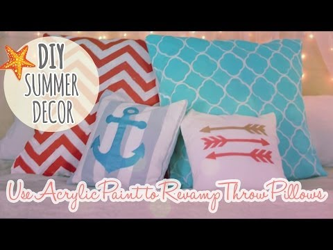 DIY Summer Decor Episode 1 - Revamp and Paint Throw Pillows