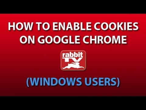 Enable Cookies/Clear Cache on Google Chrome (Windows Users)