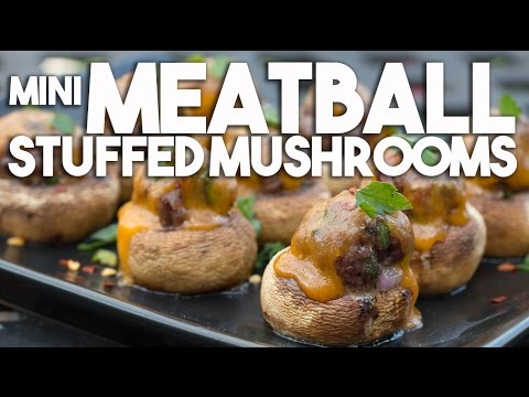 Mini Meatball Stuffed Mushrooms – Party Perfect