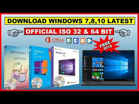 How to Download Windows 7,8,10 Official ISO File 32-bit & 64-Bit | Direct Link | 2018