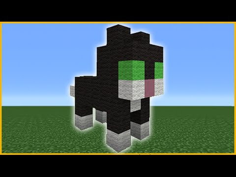 Minecraft Tutorial: How To Make A Cute Cat Statue