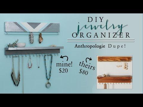 DIY Jewelry Organizer | DIY Anthropologie Decor