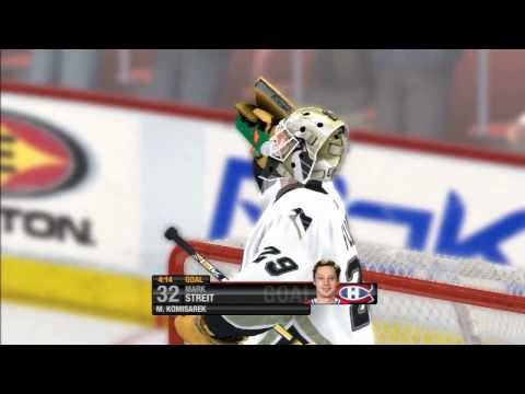 NHL 08 - My First Ever Goal On Pro Difficulty (Play Now Mode) PS3