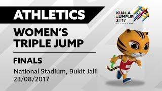 KL2017 29th SEA Games | Athletics - Women's Triple Jump FINALS | 23/08/2017