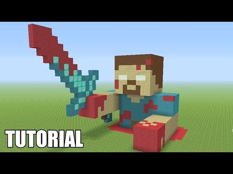 Minecraft Tutorial: How To Make A BLOODY HEROBRINE!! Survival House (ASH#30)