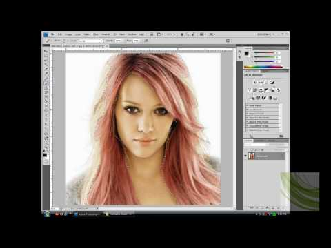 How to change hair color in Photoshop CS4
