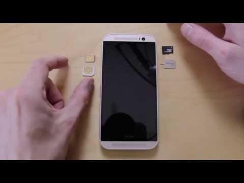 HTC One 2014 M8 nano sim & micro sd install guide - Androidizen