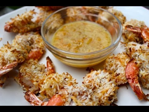 Healthy Coconut Shrimp Recipe with Orange Dipping Sauce