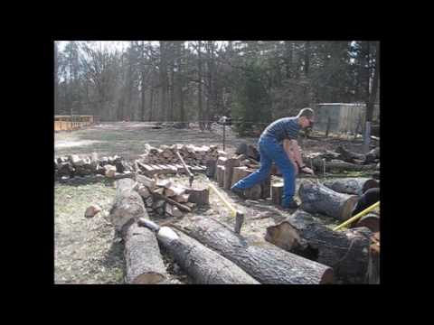 Splitting Wood For Homestead Heat