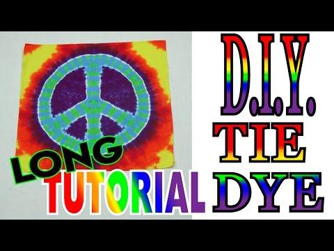 Peace Sign Tie Dye Bandana [Long Tutorial] #62