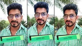 vivo V5s, OPPO F3, Gionee A1: Selfie comparison [Hindi - हिन्दी]