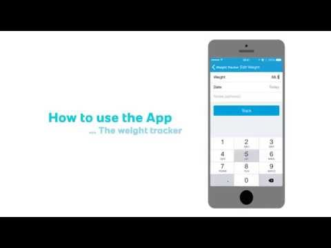 How to use the App - The weight tracker