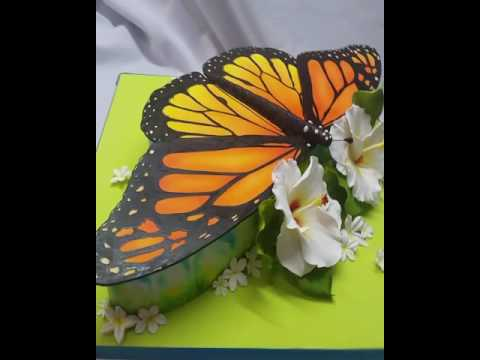 Monarch butterfly cake