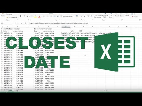How to find the closest date in excel?