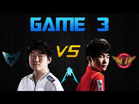SG Dade(Ryze) Vs SKT T1 Faker(Riven) - Game 3