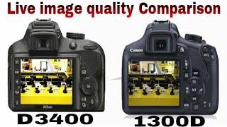 NIKON DSLR D3400 VS CANON 1300D COMPARISON