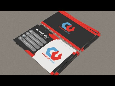 Business Card Mockup | In Illustrator CC / Photoshop | Hindi / Urdu Part 02