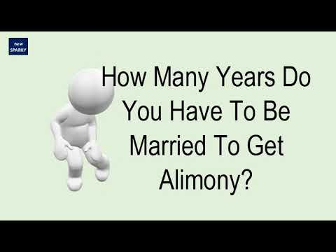 How Many Years Do You Have To Be Married To Get Alimony?