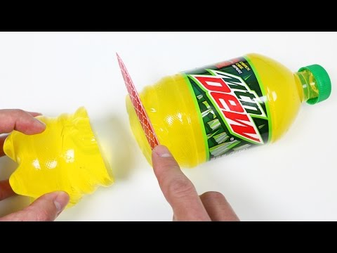 How to Make a Mountain Dew Gummy Soda Bottle Shape!